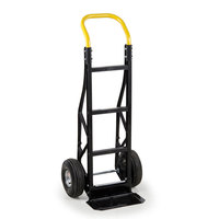 Harper PGCSK19BLK Continuous Handle Steel Tough 600 lb. Nylon Hand Truck with 10 inch x 3 1/2 inch Pneumatic Wheels