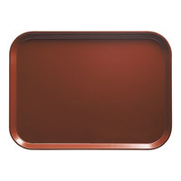 Cambro 1014501 10 5/8 inch x 13 3/4 inch Rectangular Real Rust Fiberglass Camtray - 12/Case