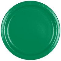 Creative Converting 47112B 9 inch Emerald Green Paper Plate - 240/Case