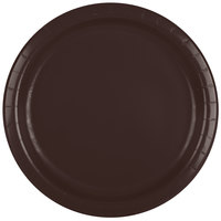 Creative Converting 473038B 9 inch Chocolate Brown Paper Dinner Plate - 240/Case