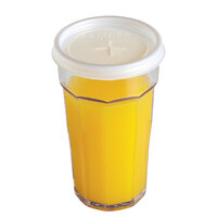Cambro CLLT6 Disposable Translucent Lid with Straw Slot for Cambro LT6 6 oz. Laguna Tumblers - 1500 / Case