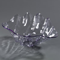 Carlisle 034007 11 inch x 7 inch 22 oz. Clear Shell Shaped Plastic Bowl