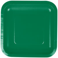 Creative Converting 453261 7 inch Emerald Green Square Paper Plate - 180/Case