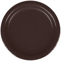 Creative Converting 793038B 7 inch Chocolate Brown Paper Lunch Plate - 240/Case