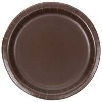 Creative Converting 793038B 7 inch Chocolate Brown Paper Plate - 240/Case