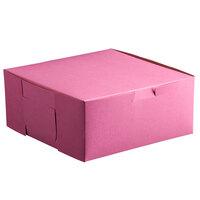 10 inch x 10 inch x 4 inch Pink Cake / Bakery Box - 100 / Bundle