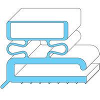 All Points 74-1098 Magnetic Door Gasket Strip - 96 inch x 3/4 inch x 3/4 inch
