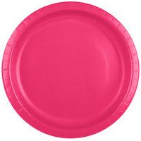 Creative Converting 50177B 10 inch Hot Magenta Paper Banquet Plate - 240/Case