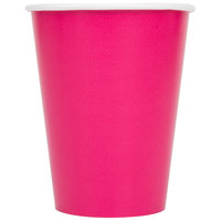 Creative Converting 56177B 9 oz. Hot Magenta Pink Poly Paper Hot / Cold Cup - 240/Case