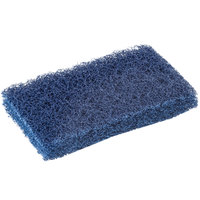 Scrubble by ACS S088 6 inch x 3 1/2 inch Extra Heavy-Duty Blue Scouring Pad - 10 / Pack