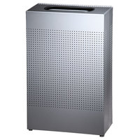 Rubbermaid SR14EPL Silhouettes Silver Metallic Steel Designer Rectangular Waste Receptacle - 25 Gallon (FGSR14EPLSM)