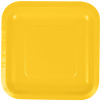 Creative Converting 453269 7 inch School Bus Yellow Square Paper Plate - 180 / Case