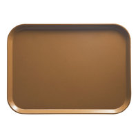 Cambro 1418508 14 inch x 18 inch Rectangular Suede Brown Fiberglass Camtray - 12/Case