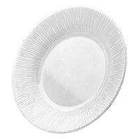 Elite Global Solutions D1214TE Beach Bums White 12 inch Round Melamine Plate
