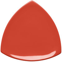 Elite Global Solutions D11T Triangulation Spring Coral 10 1/4 inch Melamine Triangle Plate