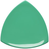Elite Global Solutions D11T Triangulation Autumn Green 10 1/4 inch Melamine Triangle Plate