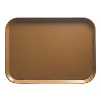 Cambro 1014508 10 5/8 inch x 13 3/4 inch Rectangular Suede Brown Fiberglass Camtray - 12 / Case