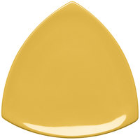 Elite Global Solutions D11T Triangulation Yellow 10 1/4 inch Melamine Triangle Plate