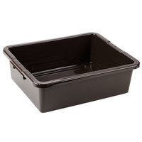 Rubbermaid 3351-92 Brown Plastic Bus Tub / Bus Box - 21 inch x 17 inch x 7 inch (FG335192BRN)