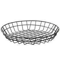 American Metalcraft WIB120 Black Round Wire Basket - 12 inch x 2 inch