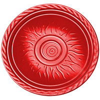 Elite Global Solutions V121 Hot Cha-Cha Red 12 inch Round Plate