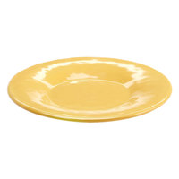 Elite Global Solutions D7P Tuscany 7 1/2 inch Mustard Yellow Melamine Plate