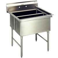 Eagle Group SFN2832-2-18-14/3 Two 32 inch x 14 inch Sideways Bowl Stainless Steel Spec-Master Commercial Compartment Sink with 18 inch Drainboard