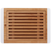 Elite Global Solutions BB1510W Bamboards 15 inch Bamboo Cutting Board with White Trim