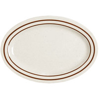 GET OP-115-U Ultraware 11 1/2 inch x 8 inch Ironstone Oval Platter - 24/Case