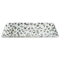 Elite Global Solutions M168RC Rock On Gray River Rock 16 inch x 8 inch Rectangular Platter