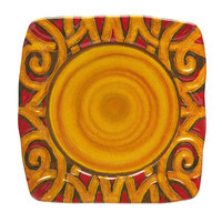 Elite Global Solutions V15152 Artist 15 inch Square Bas-Relief Scroll Pattern Melamine Platter