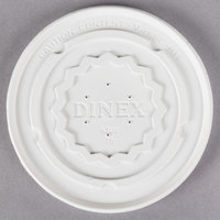 Dinex DX9300B7000 Translucent Disposable High-Temp Lid for Dinex DX9300B Tropez 9 oz. Bowl - 1000/Case