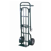 Harper DTT6048 2-Position 800 lb. Convertible Hand / Platform Truck with 10 inch x 2 1/2 inch Solid Rubber Wheels and 5 inch Urethane Casters
