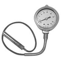 All Points 62-1117 Nickel Plated 2 inch Dial Refrigerator / Freezer Thermometer with 12 inch Capillary
