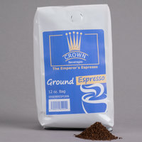 Crown Beverages Emperor's Ground Espresso - (6) 12 oz. Packs / Case