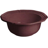 Tablecraft CW6220MRS 10 Qt. Maroon Speckle Cast Aluminum Queen Anne Salad Bowl