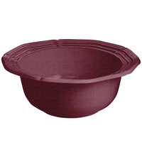 Tablecraft CW6210MRS 5 Qt. Maroon Speckle Cast Aluminum Queen Anne Salad Bowl