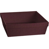 Tablecraft CW1494MAS 24 Qt. Maroon Speckle Cast Aluminum Square Bowl