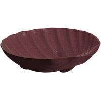 Tablecraft CW17025MAS D 6 Gallon Maroon Speckle Cast Aluminum Large Shell Bowl