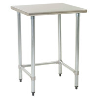 Eagle Group T2424GTEM 24 inch x 24 inch Open Base Stainless Steel Commercial Work Table