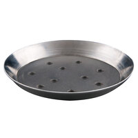 American Metalcraft TDEP14P 14 inch x 1 inch Deep Dish Tapered Perforated Pizza Pan - Tin Plated Steel