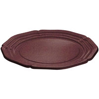 Tablecraft CW6120MRS 21 inch Maroon Speckle Cast Aluminum Queen Anne Round Platter
