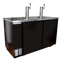 Beverage Air DD58R-1-B Black Beer Dispenser 58 inch - 3 Keg Remote Cooled Kegerator