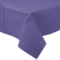 Creative Converting 710232B 54 inch x 108 inch Purple Tissue / Poly Table Cover