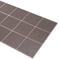 Cactus Mat 2535-B34 Honeycomb 3' x 4' Brown Anti-Fatigue Rubber Mat - 9/16 inch Thick