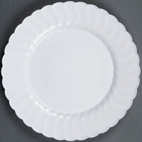 Fineline Flairware 209-WH 9 inch White Plastic Plate - 18 / Pack