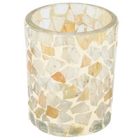 Sterno Products 80202 3 1/2 inch Light Gold Mosaic Votive Liquid Candle Holder