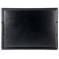 Cal-Mil 354-1-13 24 inch x 18 inch Black Room Service Tray