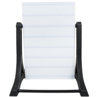 Aarco The Rocker Two Sided White Economy Letterboard with Stand and Characters - 24 inch x 36 inch