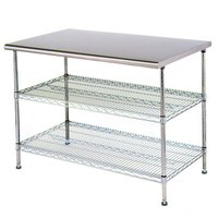 Eagle Group T3036EW 30 inch x 36 inch Stainless Steel Table with 2 Chrome Wire Undershelves